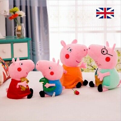 4PCS Peppa Pig Characters Soft Toys Daddy Mummy Peppa George Pig Stuffed Gifts • 12.79£