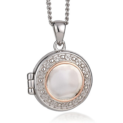 Clogau Silver Locket 22  925 Circle Opening Welsh Rose Gold Pendant GiftWrap NEW • 89£