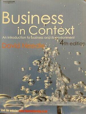Business In Context: An Introduction To Business And It's Environment - David... • 9.75£
