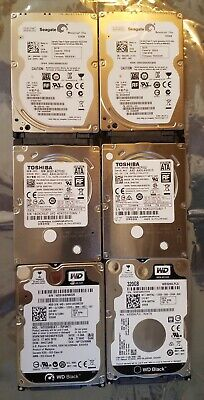 $ CDN66.06 • Buy Lot 6 Seagate, Toshiba, Western Digital 320GB 2.5  SATA Laptop Hard Drive HDD