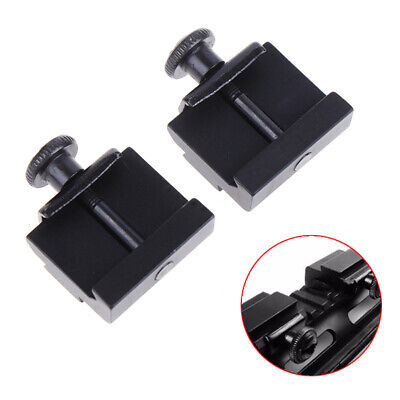 2pc 20mm To 11mm Weaver Dovetail Adapter To Picatinny Rail Rifle Scope Mount PM • 5.03£