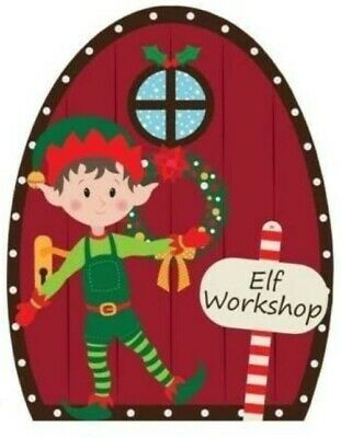 Red Elf Door Workshop Christmas Door Hanger Festive Decoration Supplies • 2.75£