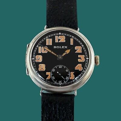 $ CDN3963.03 • Buy ROLEX Vintage 1913 WWI Military Trench Antique Officers Watch Black Dial