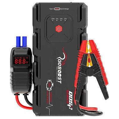 AU149.89 • Buy Jump Starter 2000A Portable 12 Volt Car Battery Heavy Duty High Booster Rooboost