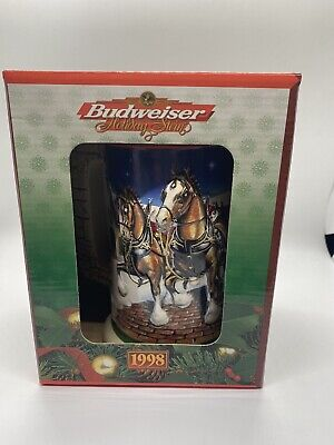 $ CDN5.17 • Buy Vintage 1998 BUDWEISER HOLIDAY CERAMIC STEIN--GRANT'S FARM HOLIDAY With Cert