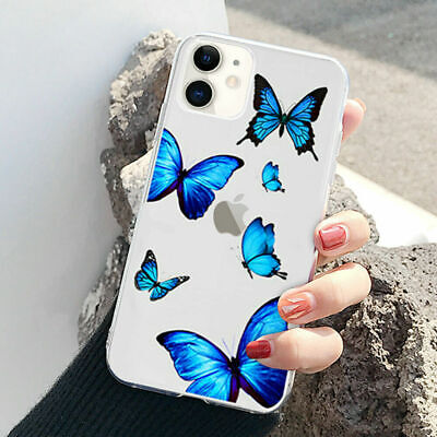 AU6.99 • Buy Creative Clear Butterfly Silicone Phone Case For IPhone 11 12Pro Max 7 8 Plus XR