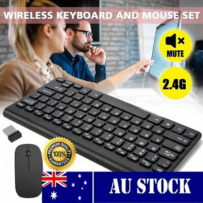 AU23.98 • Buy Wireless Gaming Keyboard And Mouse Combo Cordless Set For PC Laptop Win7/8/10 BK