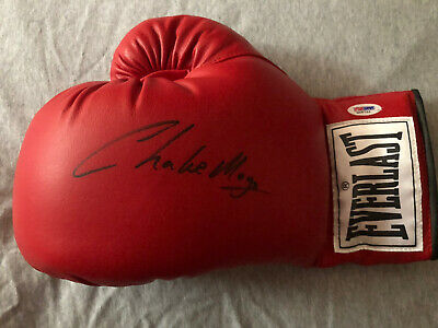£129.99 • Buy GENUINE SIGNED Red 12oz Everlast BOXING GLOVE By CHARLIE MAGRI With PSA DNA Card