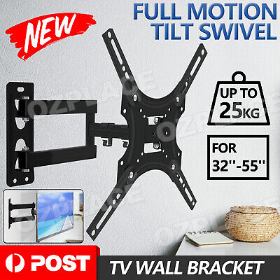 AU16.95 • Buy Full Motion Tilt VESA TV Wall Mount Bracket Swivel 32 37 40 43 48 50 52 55 Inch