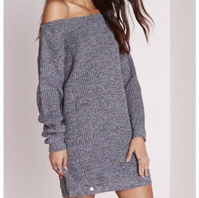 Missguided Off The Shoulder Knitted Dress Worn Once Size Small • 15£