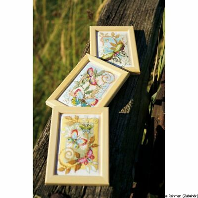 £19.24 • Buy Vervaco Miniature Counted Cross Stitch Kit Deco Butterflies Kit Of 3, DIY