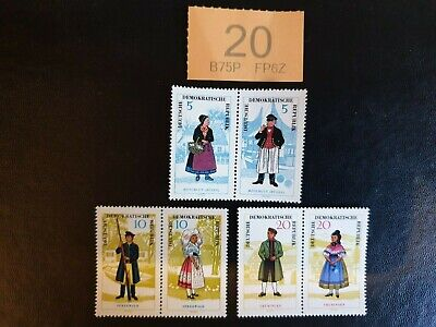 3x2  Germany DDR - 1964  -Provincial Costumes (1st Series).  MNH !  Look ! • 27.99£