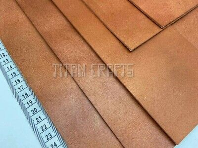 2.5 Mm THICK COWHIDE Tooling Craft Leather Veg Tan Full Grain Saddle TAN Leather • 15.99£