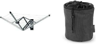 Brabantia WallFix Retractable Washing Line With Fabric Cover, 24 M With Peg BAg • 127.74£