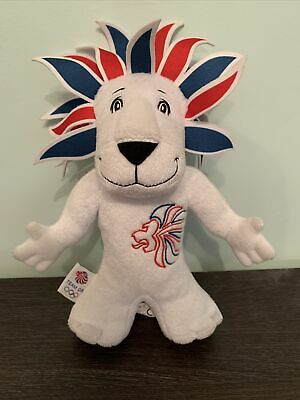 London 2012 Lion Olympic Games Team GB Mascot Soft Toy Plush Collectible • 5£