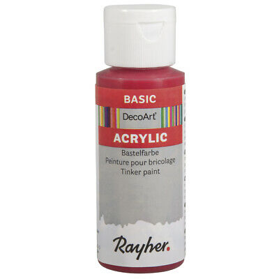 Acrylic Paint Red Fire 59 ML - DecoArt • 12.91£