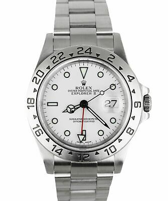 $ CDN9451.61 • Buy MINT 2001 Rolex Explorer II 16570 Stainless Steel SEL 40mm GMT Polar White Watch