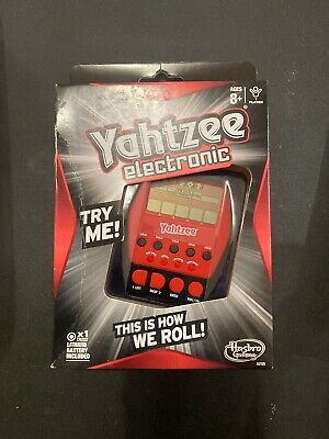 AU8.49 • Buy Yahtzee Electronic This Is How We Roll Hasbro Battery Travel Hand Held Game