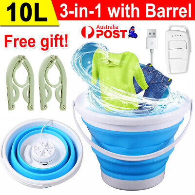 AU47.99 • Buy Portable Travel Folding Washing Machine Automatic Mini Bedroom Laundry Tub Basin