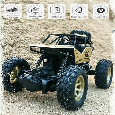 4WD Remote Control RC Kids Big Wheel Toy Car Monster Truck 2.4 GHz RTR Car Toy • 17.99£