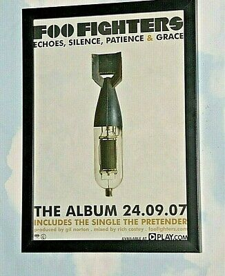 FOO FIGHTERS Framed A4 2007 `echoes,silence` ALBUM` Original Promo Band Poster  • 12.99£