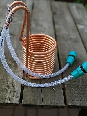 Mini 12 Coil Wort Chiller: 2 X 50cm Hose & 2 Hose Connectors. Brewing Winemaking • 30.50£