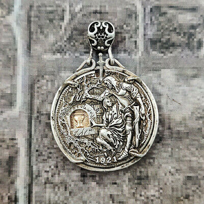 AU71.63 • Buy Hobo Nickel Coin Morgan Dollar Hand Carved Coins Pendant Collectibles Gift