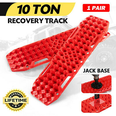 AU131.94 • Buy Brand New Red Recovery Tracks Sand Track 10T 4WD Car Accessories 4x4 Pair