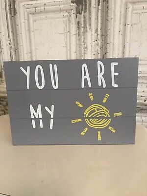 You Are My Sunshine Wall Art Plaque Wood • 3£