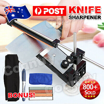 AU32.95 • Buy Professional Kitchen Sharpening System Fix-angle Knife Sharpener With Stones