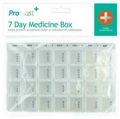 Medicine Dosette Pill Box Daily Weekly Organiser Moisture Proof 28 Compartments  • 2.69£