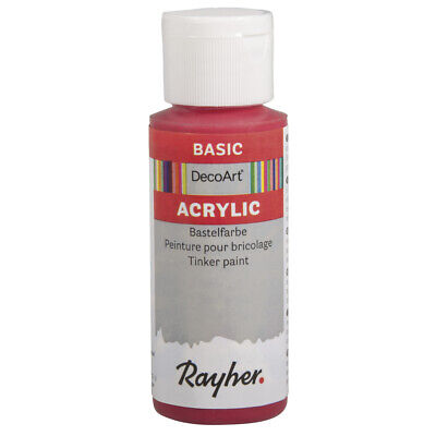 Acrylic Paint Red Classic 59 ML - DecoArt • 12.91£