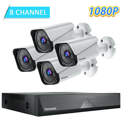 AU141.96 • Buy TOGUARD 8CH 1080P Wired Home Security Camera System HD CCTV Surveillance Outdoor