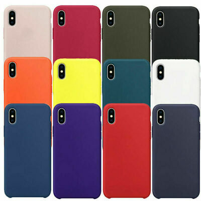Genuine Original Silicone Case Cover For Apple IPhone 12 11 Pro 7 8 Plus XR X/XS • 3.89£