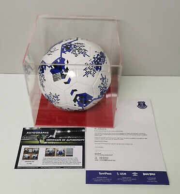 £249.99 • Buy 2019-2020 Everton Squad Signed Football With Case, Letter From Club & Coa