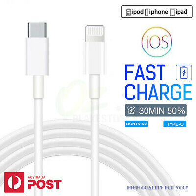 AU8.99 • Buy USB C To Lightning 18W PD Fast Charging Cable Cord For IPhone IPad