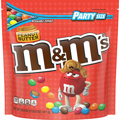 $35 • Buy Party Size Peanut Butter M&M's Chocolate Candies 38oz