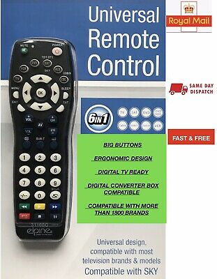 Universal Remote Control One For All Compatible With Sky & Most Television Brand • 4.45£