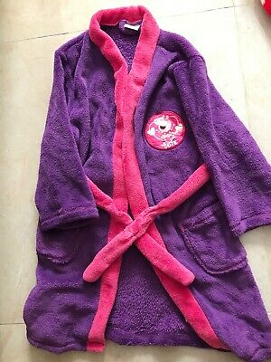 PEPPA PIG Purple Pink Belted Robe Dressing Gown For 4-5yr Old Girl • 5£
