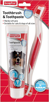 Dog Toothbrush And Toothpaste Kit - Fresh Breath - Removes Plaque • 6.93£