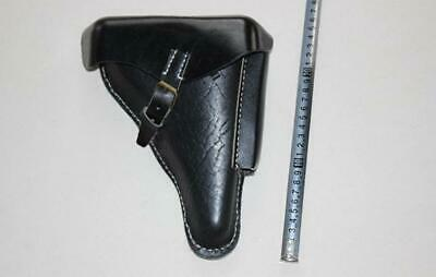WWII German Luger P.08 Leather Holster Black High Quality Replica • 38.66£