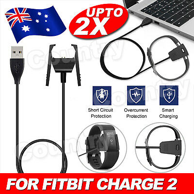 AU9.85 • Buy USB Charger Charging Cable For Fitbit Charge 2 Wristband Smart Fitness Watch AU