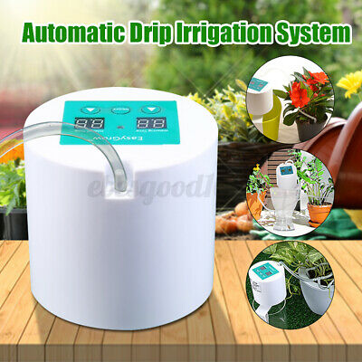 DIY Automatic Drip Irrigation Plant Kit Greenhouse Self Watering Timer Syste • 26.70£