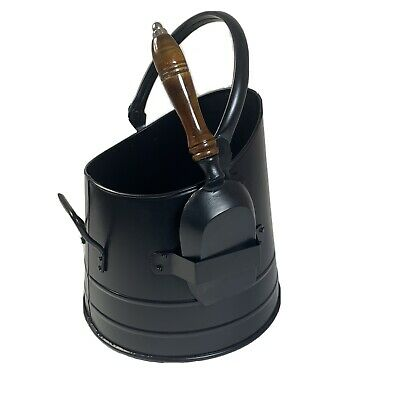 Coal Scuttle Hod Bucket Fireside Fuel Store And Shovel - Black • 39.99£