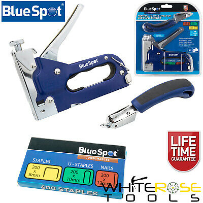 £12.99 • Buy BlueSpot Staple Nail Gun And Staple Remover Set Heavy Duty 3 Way Cable Tacker
