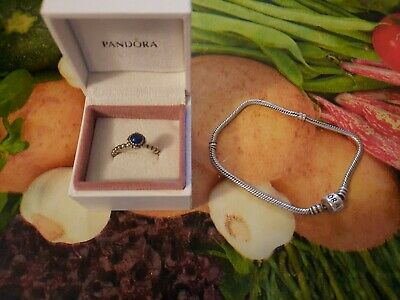 Pandora 925 BRACELET & PANDORA RING WITH PEARL • 21.80£