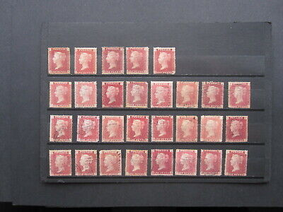 GB STAMPS  QUEEN VICTORIA  SELECTION OF 1d REDS - MINT & F/USED - VARIOUS PLATES • 12£