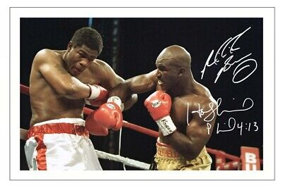 £1.89 • Buy RIDDICK BOWE & EVANDER HOLYFIELD Signed Autograph PHOTO Gift Print BOXING Boxer
