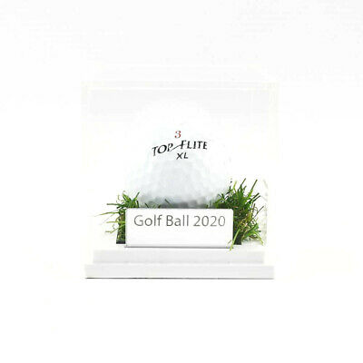 Perspex Golf Ball Display Cases - Grass Effect Base • 19.99£