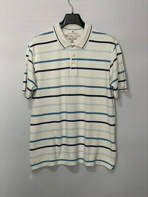 Blue Harbour Marks And Spencer Mens Polo Shirt Size L White Climate Control • 3.90£